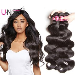 UNice Hair Raw Virgin Indian Body Wave 5 Bundles 100% Human Hair Extensions Remy Human Hair Weave Wet And Wavy Wholesale Cheap Bulk