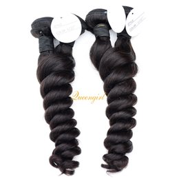 10A Brazilian Indian Peruvian Malaysian virgin hair wefts loose wave human hair weaving mix length 4 bundles loose curl raw hair extensions