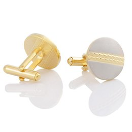 Gold Plated Brushed Men's Cufflinks Gold Plated Cufflinks Business Cufflinks Free Shipping
