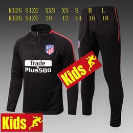 Atletico Kids Training suit kits 2017 2018 GRIEZMANN F TORRES SAUL CARRASCO Madrid Training suit CHANDAL SUIT SPORTSWEAR Soccer Jersey kit