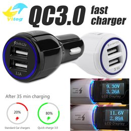 QC3.0 Fast Car Charger Dual 2 USB LED Fast Car Charger 5V 9V 12V for Samsung S7 S8 S9 Plus Huawei Xiaomi