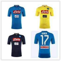 new 2018 2019 Serie A Naples New Napoli home soccer jerseys Napoli blue football Jerseys Shirt for men 17 18 HAMSIK L.INSIGNE PLAYER Shirt