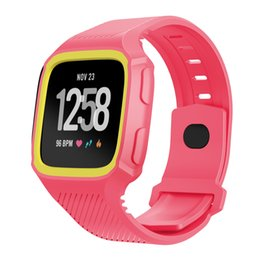 for Fitbit Versa Bands with Case,TPU Replacement Band Bracelet Strap Wristband with Shock-proof and Shatter-resistant Protective Case