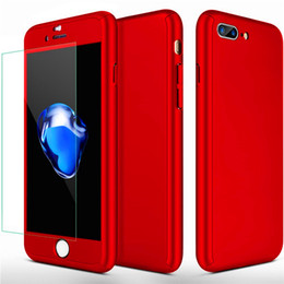 360° Full Protection Case For iPhone X 8 7 6 6S Plus Samsung S8 S7 Edge Hybrid Full Body Case with Screen Protector