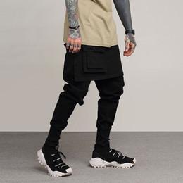 TKPA Original European High Street Men's Cloth Pants Dark System Rock Wind Split Joint Culotte False Two Paper Upon Wei Pants Male
