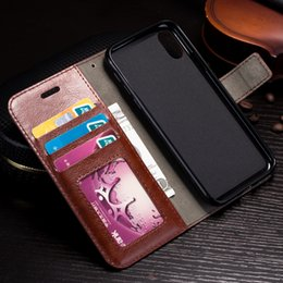 For iPhone 6 6s 7 8 Xs Max XR PU Leather Case Frame Card Slots Phone Case Cover For iPhone 6 7 Plus