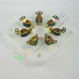 7pin Gold Ceramic vacuum tube socket for 6C33 832 829 FU29 826 audio amplifiers guitar HIFI parts