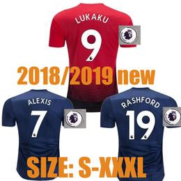 SIZE S-3XL 2019 ALEXIS LUKAKU Soccer Jerseys 2018 2019 MARTIAL ALEXIS POGBA LUKAKU RASHFORD 2018 LUKAKU football shirt