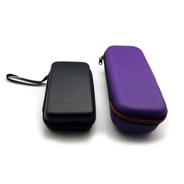 Leather Zipper Case Carry Cases Carrying Box for Makeup Tools E Cig Atomizer Evod Battery Ego Kit
