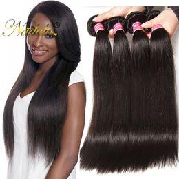 Nadula Raw Indian Hair Bundles Straight Human Hair Extensions 100% Human Hair Weft Virgin Weave Bundles 8-30 inch Cheap Wholesale Bundles
