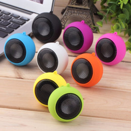 New 3.5mm plug Music player stereo mini speakers Hamburg Type Telescopic Plug-in Audio Speakers For Phone PC Computer free shipping 2018