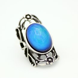 Fashion Sweet Antique Silver Plated Mood Ring Magic Emotion Feeling Temperature Control Rings for Gift MJ-RS053