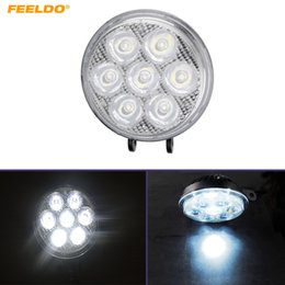 FEELDO Car 4inch 7LED 3W Round LED Light Fog Light Working Lamp Flood Spotlight #5305
