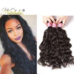 Nadula Malaysian Virgin Hair Bundles Natural Wave Remy Human Hair Extensions 3Bundles Natural Cuticle Aligned Hair Weft Wholesale Weave Bulk