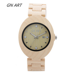 GNART069 Wood Watches Women's bowl table Bamboo bowl table Gift table Fashion Watches Casual Watch Lovers Watch Quartz Watch