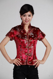 Shanghai Story new sale high quality chinese traditional clothing cheongsam top woman dragon print Chinese blouses cheongsam top 2 color