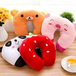 Hot Sale 9 styles U-shaped Plush Pillow Travel Pillow Cartoon Animal Car Headrest Doll Soft Cushion Home Textile