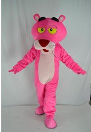 New Style Adult Cute BRAND Cartoon New Professional Animal Pink Panther Mascot Costume Fancy Dress Hot Sale Party costume Free Ship