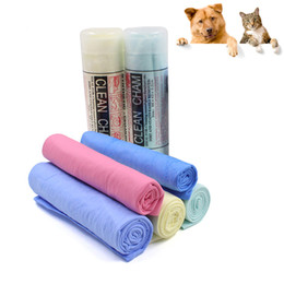 Dog cat towel big size super absorbent towel PVA material clean cham pet bath towel grooming products car cleaning tools plastic box package
