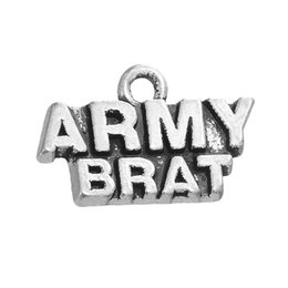 Alloy Letter Charms Army Brat Vintage Pendant Message Charms 14*18mm AAC1166