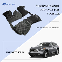 SCOTABC Custom Fit Car Foot Pads All Weather Leather Car Floor Mats for Infiiniti FX50 Waterproof Anti-slip 3D Front & Rear Carpets