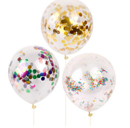 Paper Balloon 18'' confetti transparent balloons Wedding Party Celebrating Baby Shower Birthday decorations party supplies latex Ballons
