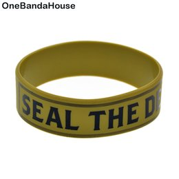 Wholesale 50PCS Lot Printed Bracelet Volbeat Silicone Wristband Seal the Deal and Let is Boogie Promotiom Gift