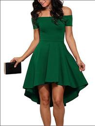 New women's dress explosion models shoulder short sleeve large swing dovetail 5colors S M L XL XXL