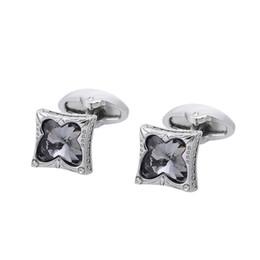 New Butterfly Gray Crystal Zircon Cufflinks Cuff Neck Cufflinks Wedding Wedding Gift Shirt Buttons Free Shipping