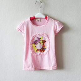 baby clothing sticking drill apple print short sleeve t shirts bulk wholesale kids clothing