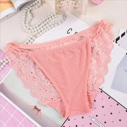 2018 New Women Lace Underwear Transparent Hollow Mesh Sexy Breathable Girls Triangle Underwear One Size Women's G-Strings