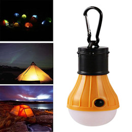 3 LED Camping Tent Light Bulb Outdoor Portable Hanging Fishing Lantern Lamp Yellow