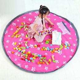 150cm quick storage bag play toy mat for lego bricks baby kids toys storage bag home picnic cars organizer bag nylon cloth