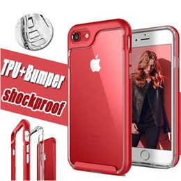 2 in 1 Armor Transparent Luxury Shockproof Clear TPU PC Frame Hybrid Protective Cover Case for iphone X 8G 7G 6S PLUS iPhone8