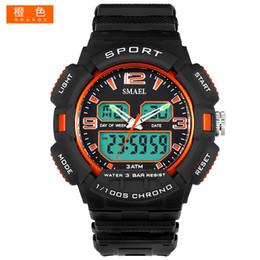 2018 SMAEL Sport camuflaje militar Uhren Digital LED Armbanduhr Sport 1378B Herrenuhr LuxuryClock Männer Military Armee