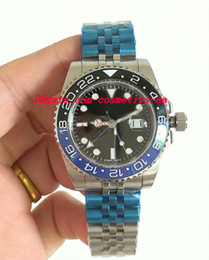 6 Style Luxury Watches New Ceramic Bezel 126710BLRO 40mm Stainless Steel Strap Automatic Mens Men's Watch Wristwatch