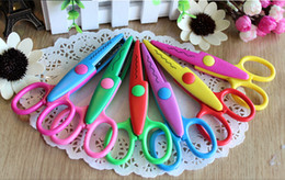 DIY Plastic Decorative Craft Enfant School Scissors for Paper Cutter Scrapbooking Office & School Cutting Supplies free shippng high quality