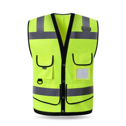 Visibility Reflective Vest Working Clothes Motorcycle Cycling Sports Outdoor Reflective Safety Clothing free shipping 2018