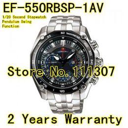 Al por mayor-EF-550RBSP-1AV Nuevo EF-550RBSP-1A EF 550RBSP 550 Deportes Cronógrafo reloj para hombre reloj movimiento de cuarzo reloj seguro Swing Function
