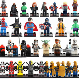Soldiers Building Block Puzzle Minifig Super heros Toys Captain America Hulk Ironman Superman X-MAN Spiderman Wars Master Mini Figure Toys