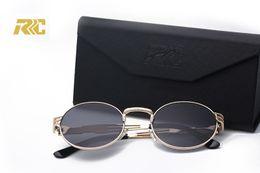 RRC Brand Designer Sun glasses Vintage Metal Sunglass Oval Slim Luxury Classic Steampunk Sunglasses Round JOHN LENNON Circle Retro VTG