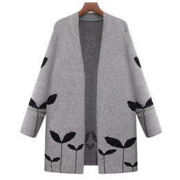 2017 autumn and winter new large size women's new sweater Europe and the United States wind loose long-sleeved cardigan sweater coat