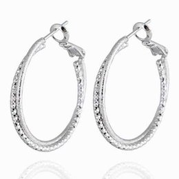 Simple Hoop Earrings Fashion Women Rose   Platinum   18K Gold Plated Statement Earrings High Quality Jewelry Party