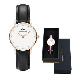 New Fashion Women Daniel Watches Nylon Leather Strap 26MM 36MM Business Casual Brand Water Diamond British Watch