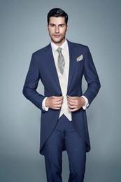 tailcoat(coat + trousers)New Men's dress, suit, groom dress, Korean version, formal suit, groom, best man suit Business and leisure banquet