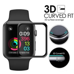 3D Full Coverage Tempered Glass Screen Protector 40MM 42mm 38mm 44mm For Apple Watch Anti-Scratch Bubble-Free For iWatch Series 1  2  3 4