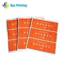 Full color printing oem advertising stickers, UV-resistant outdoor advertising sticker label