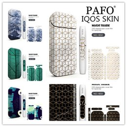 2018 New 10 Color Relief printing Pattern 3M Adhesive Printing Label Sticker Skin for IQOS IQOS 2.4 Plus Universal Cover