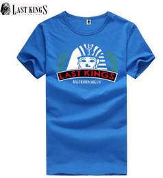 free shipping s-5xl last king Cotton Blend T shirts mens cheap hip hop Quick Dry Breathable short sleeve