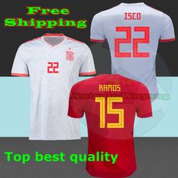 2018 camisetas de futbol ASENSIO MORATA ESPANA Spain soccer jerseys world cup 2018 RAMOS INIESTA football shirt Camisa maillot de foot